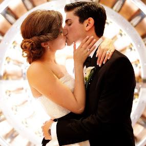Kiss by Drew Noel - Wedding Bride & Groom ( drew noel photography )