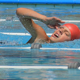 Love the emotion here! by Carla Turner Shannon - Sports & Fitness Swimming