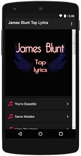 James Blunt Top Lyrics - screenshot