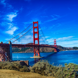Golden Gate Bridge by Pravine Chester - Buildings & Architecture Bridges & Suspended Structures ( golden gate bridge, bridge, architecture, landscape, san francisco, photography )