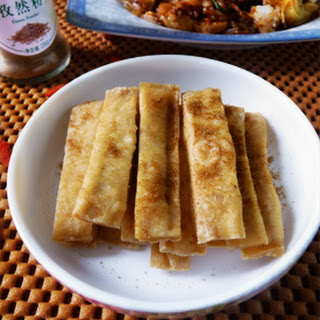 Fried Chinese Tofu with Cumin