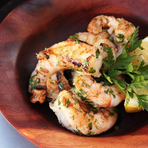 Grilled Shrimp With Garlic and Lemon