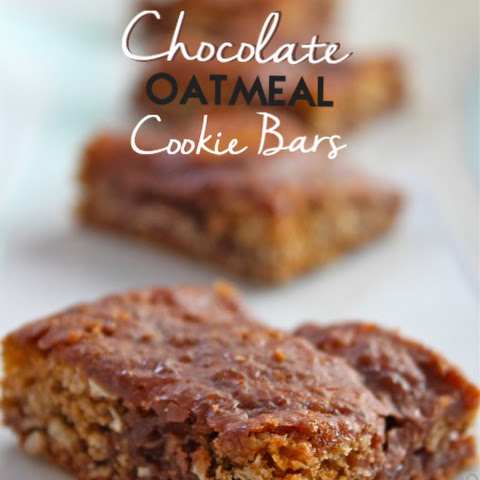 Oatmeal Chocolate cookie bars