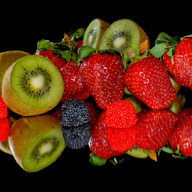 kiwi,strawberry and candys by LADOCKi Elvira - Food & Drink Fruits & Vegetables ( fruits,  )