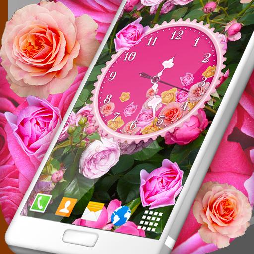 Roses Analog Clock Wallpaper (app)