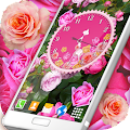 Roses Analog Clock Wallpaper APK Descargar