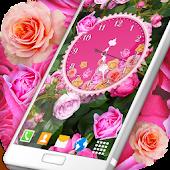 Roses Analog Clock Wallpaper