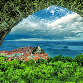 Piran - look from Rampart by Janez Podnar - Buildings & Architecture Other Exteriors