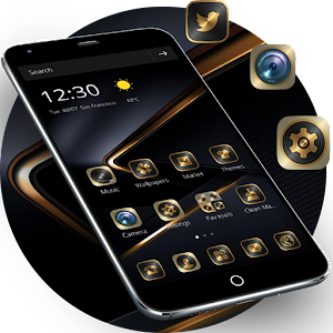 Golden Black Theme for Huawei P10 For PC