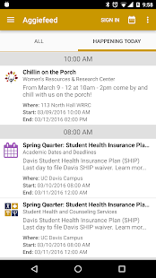 UC Davis Mobile - screenshot
