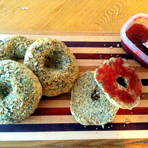 Seeded Multigrain Bagels and Some Bread Making Tips