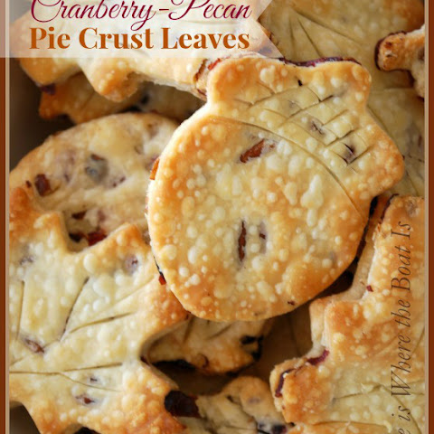 Cranberry-Pecan Pie Crust Leaves
