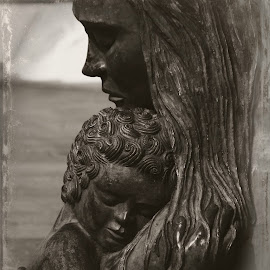 Mother and child by Brenda Shoemake - Black & White Objects & Still Life