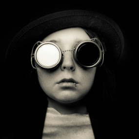 The Forgotten  by Geoff Ridenour - People Portraits of Women ( geoff ridenour, studio, d800, goggles, people, forgotten, steampunk, fair, portrait )
