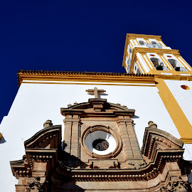 church by Claude Huguenin - Buildings & Architecture Places of Worship ( blue sky, church, white, architecture, antique, light )