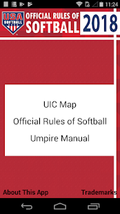 USA Softball Official Rules Screenshot