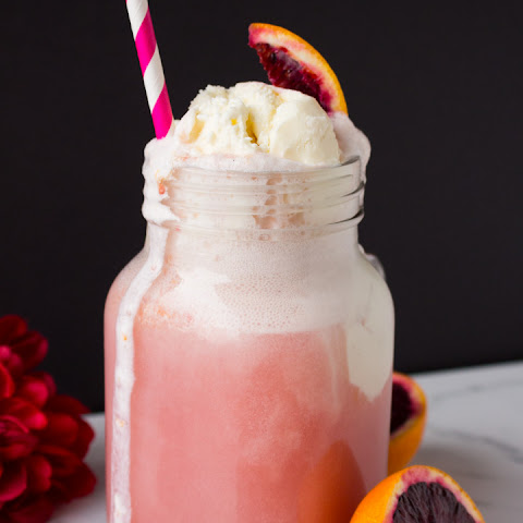 Blood Orange Cream Soda Floats