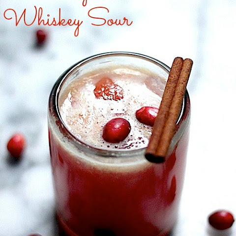 Cranberry & Cinnamon Whiskey Sour