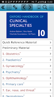 Oxford Handbook of Clinical 10 screenshot for Android