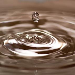 Water drops by Divnoor Buttar - Abstract Water Drops & Splashes ( water, blue, drops, aqua, droplets )