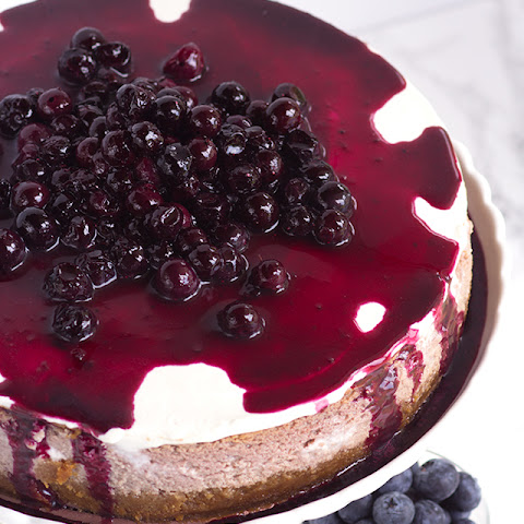 Blueberry Cottage Cheese Cheesecake