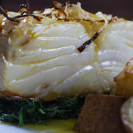 Cod Fish - Portuguese style by Renato Marques - Food & Drink Plated Food ( greens, portuguese, food, potatoes, traditional, roasted, codfish )