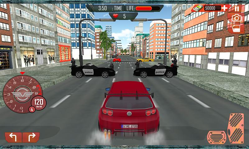 Grand Car Chase Auto Theft 3D Screenshot 0