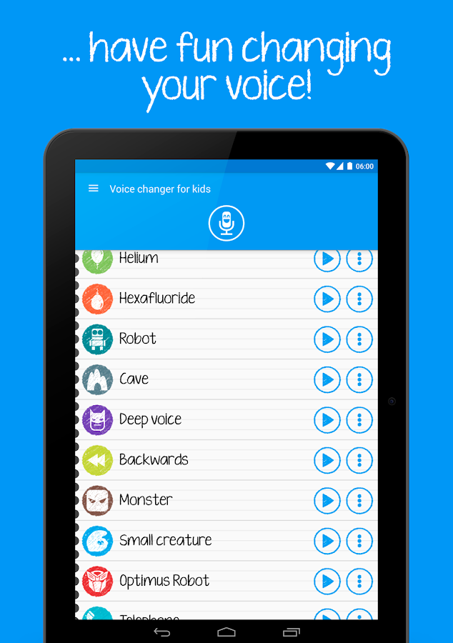 Voice changer for kids Screenshot 14