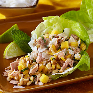 Tropical Tuna Lettuce Wraps