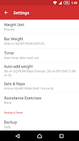 Screenshot of StrongLifts 5x5 Workout