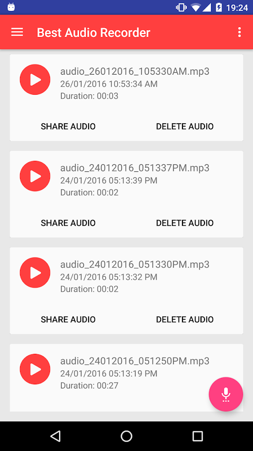 Best Audio & Voice Recorder HD Screenshot 2