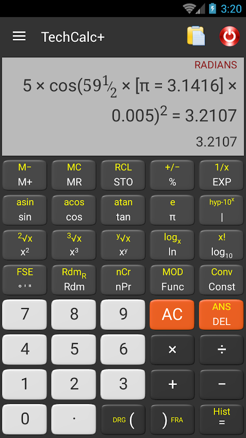 Scientific Calculator (adfree) Screenshot 0