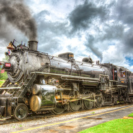 Steam 4501 by John Sharp - Transportation Trains