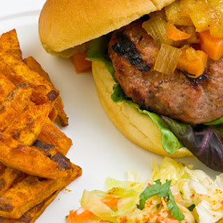 Caribbean Turkey Burgers with Honey Pineapple Chutney