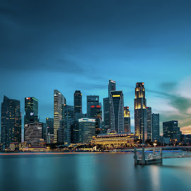 The Bay by Safrudin Fathan - City,  Street & Park  Skylines ( slowspeed, cityscapes, sunset, singapore )