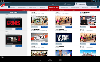 Screenshot of NRJ 12 Tablette