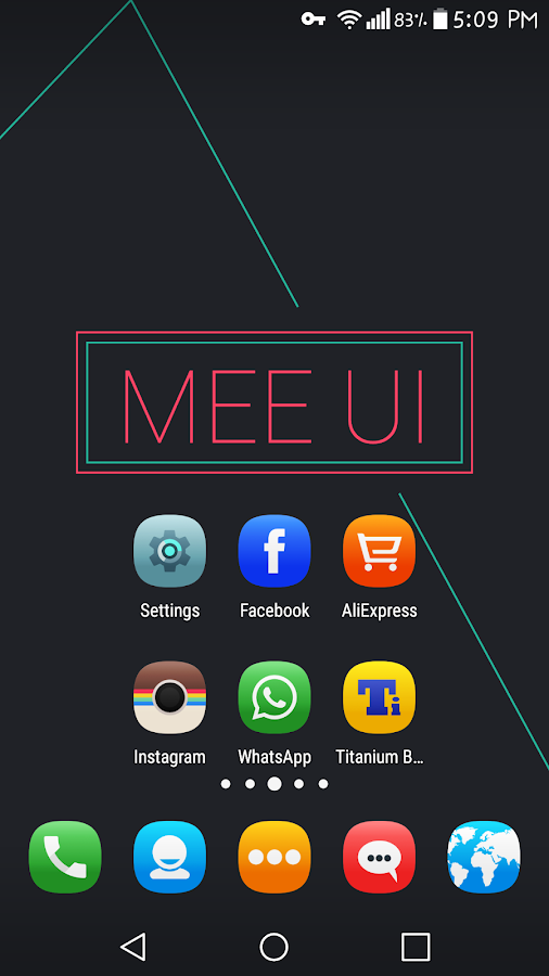 MeeUI MultiLauncher Icon Theme Screenshot 0