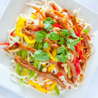 Udon Noodle Salad with Peanut Sauce