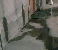 Leaking concrete basement