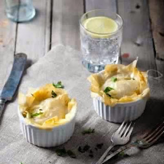 Fish Pie With Filo Dough And Cream Cheese