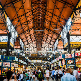 Great Market Hall, Budapest by Debiprasad Mishra - City,  Street & Park  Markets & Shops ( hungary, great market hall, budapest, market, europe, shops, marketing, shopping )