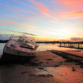 Dry Dock by Mark Williams - Landscapes Waterscapes ( western port bay, cold, melbourne, autumn, australia, mark. b. williams., day, mid )