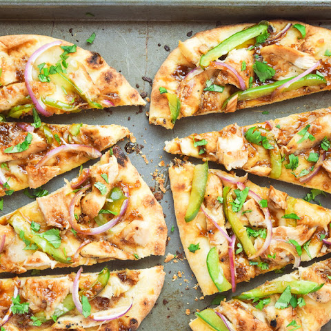 Asian Barbecue Chicken Flatbread PIzza