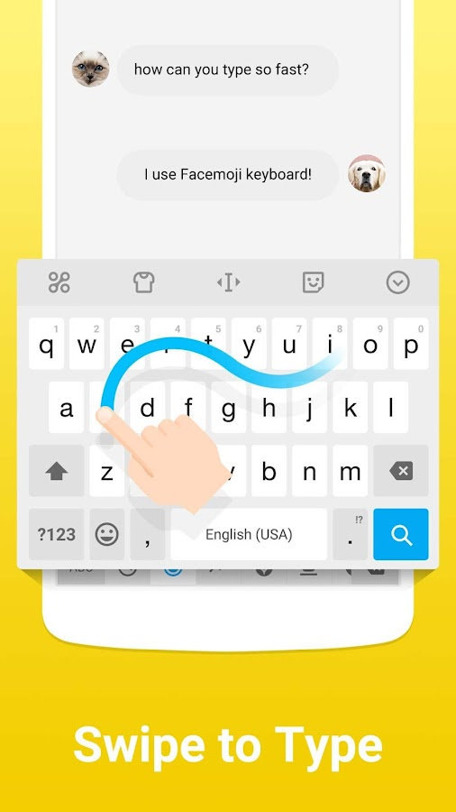 Facemoji Emoji Keyboard + GIFs Screenshot 6
