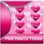 Pink Hearts for ExDialer 1.9.5 Apk