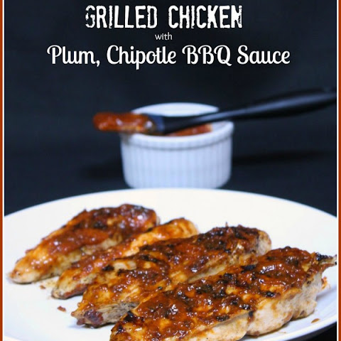 Grilled Chicken w Plum, Chipotle BBQ Sauce