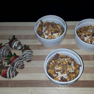 Crunchie Topped Chocolate Pudding