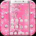 Free Pink Rose Diamond Theme APK for Windows 8