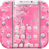 Pink Rose Diamond Theme APK for iPhone