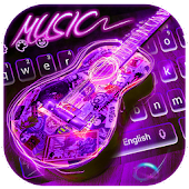 App Neon Guitar Music Keyboard Theme APK for Kindle